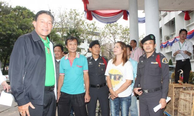 "Two owners of the ""Jungle Restaurant"" presented by police"