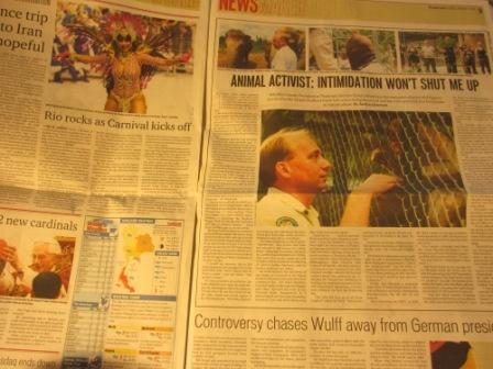 Bangkok Post newspaper February 2012