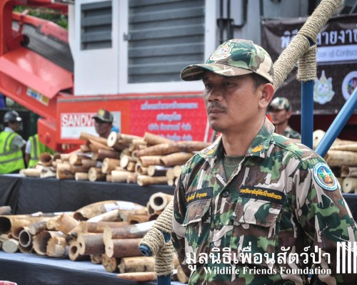 Thailand destroys confiscated ivory