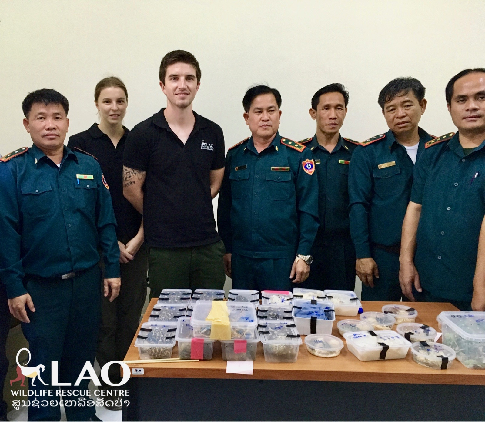 Large Shipment Reptiles Seized In Laos